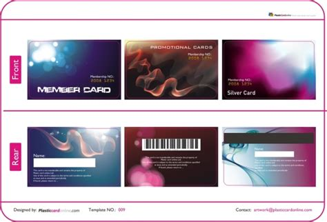 plastic card design template free ready made plastic card template