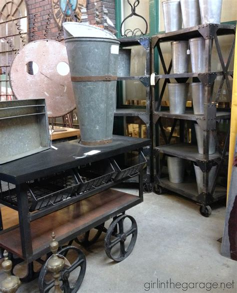 vintage industrial home decor treasure midland arts and antiques in the garage 174