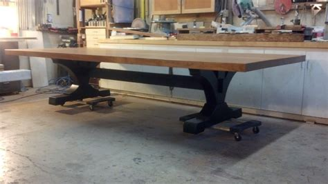 hand crafted extra large family dining table  puddle
