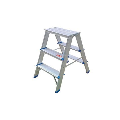 sgabello scaletta sgabello scaletta doppia in alluminio 3 gradini 1500163