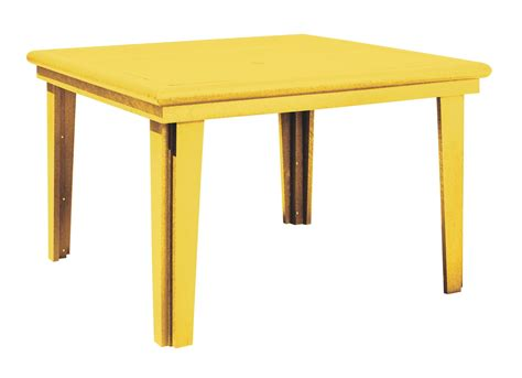 Yellow Dining Table Generations Yellow 46 Quot Square Dining Table From Cr Plastic T10 04 Coleman Furniture