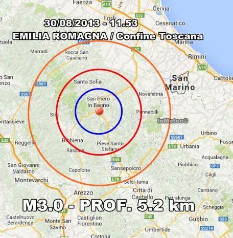 previsioni tempo bagno di romagna terremoto emilia romagna oggi 30 agosto 2013 scossa a san