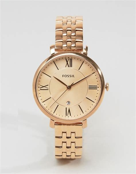 Fossil Kulit Rosegold fossil fossil gold jacqueline es3435