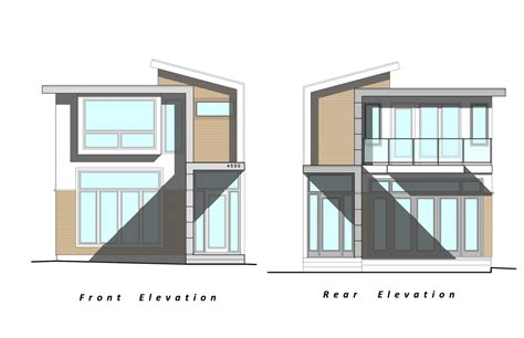 our next project custom modern home elevation drawings by