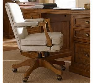 brock upholstered swivel desk chair pottery barn