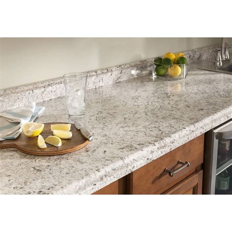 Kitchen Countertops Lowes Shop Belanger Laminate Countertops Formica 6 Ft Ouro Romano With Etchings Laminate