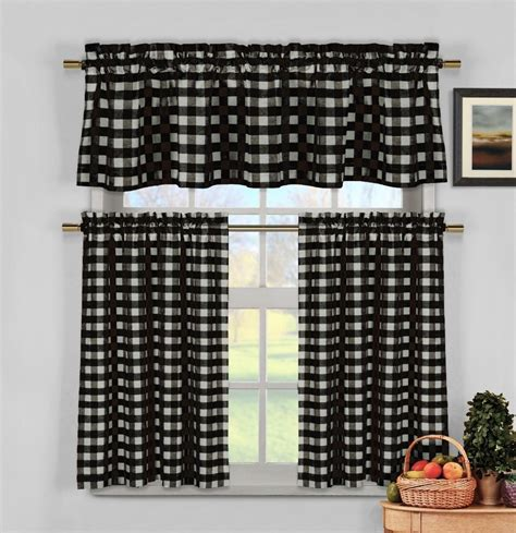 black white kitchen curtains online get cheap white tier curtains aliexpress com