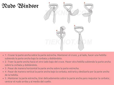 como se hace el nudo de la corbata el nudo de corbata ideal para cada ocasi 243 n paso a paso