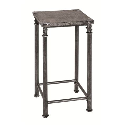 si鑒e d appoint table d appoint haute xena en acier et bois massif gris