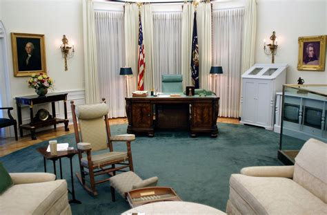 in oval office the oval office exhibit in the lbj library is a 7 8th