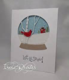 how to make a snow globe card hycct1208 cardinal snow globe by dandi93 cards and paper