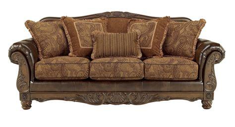 durablend antique sofa ashley fresco durablend traditional antique sofa living