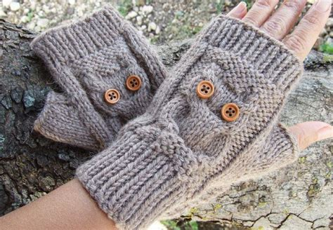 owl fingerless gloves knitting pattern 68 best i might slightly be owl obsessed maybe images on