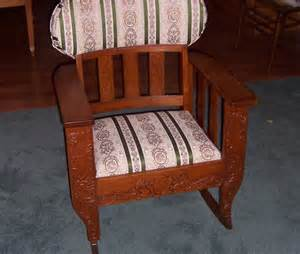 a resale vintage upholstered rocking chair