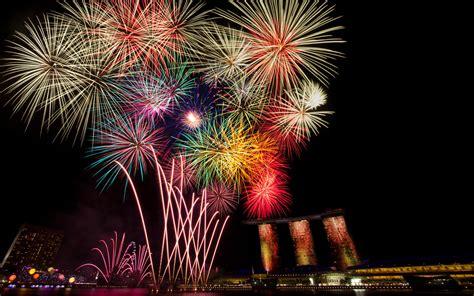 new year celebration in singapore happy new year celebration fireworks bridges skyscrapers