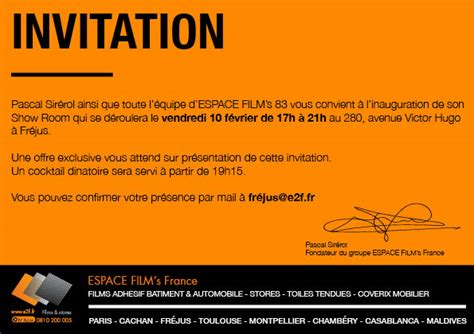 Showroom Invitation Card