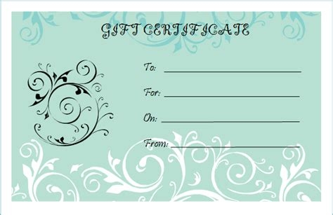 free gift certificate maker template blank gift certificate template