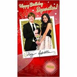 high school musical birthday card happy birthday superstar card size 125 x 230mm co uk