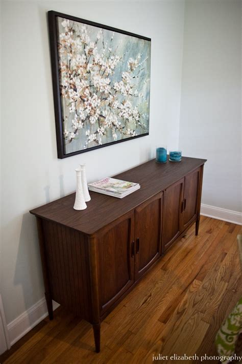 sideboard behind sofa mid century modern buffet table behind sectional couch