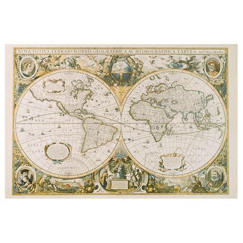 vintage ikea edelvik poster vintage world map 61x91 cm ikea