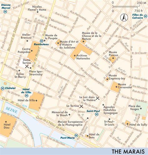 marais map map of the marais the marais fodor s travel guides