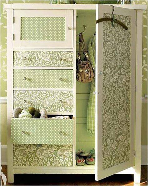 furniture makeovers 27 cool diy furniture makeovers with wallpaper amazing