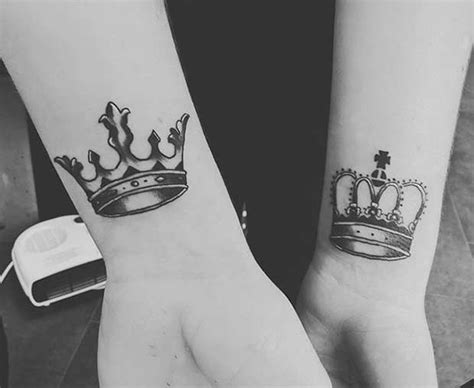 partner tattoo designs 51 king and tattoos for couples