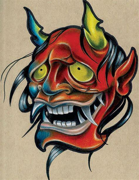 art tattoo school smola hannya by corey smola asian new school canvas
