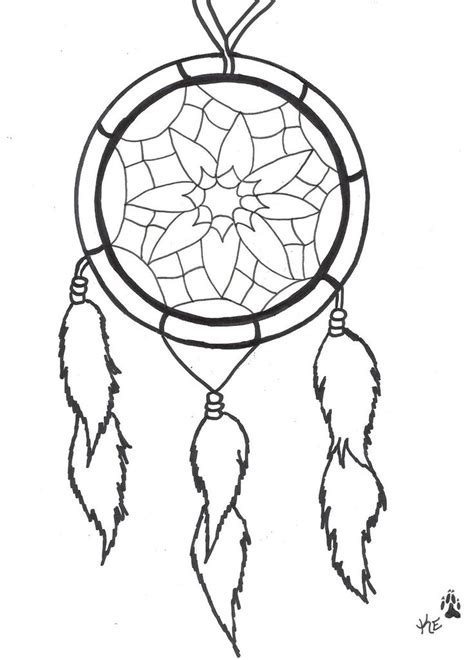 dreamcatcher tattoo black and white dreamcatcher clipart easy pencil and in color