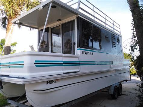 fiberglass catamaran houseboat catamaran cruiser lil hobo 2000 for sale for 10 000