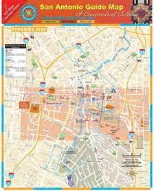 map to san antonio map of san antonio attractions detailed real to scale