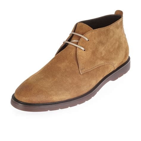 italian leather shoes river island brown italian leather chukka boots in brown for lyst