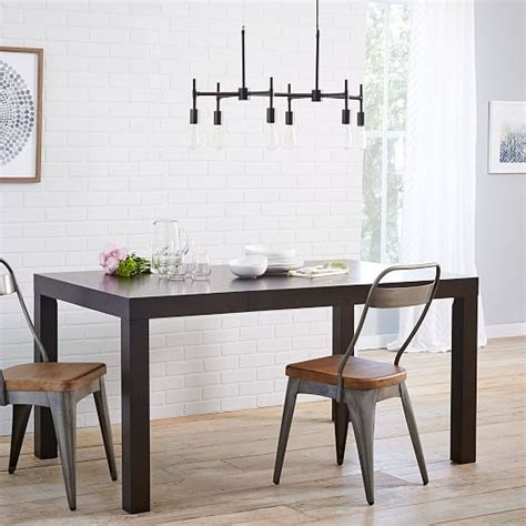 square parsons dining table parsons expandable dining table west elm