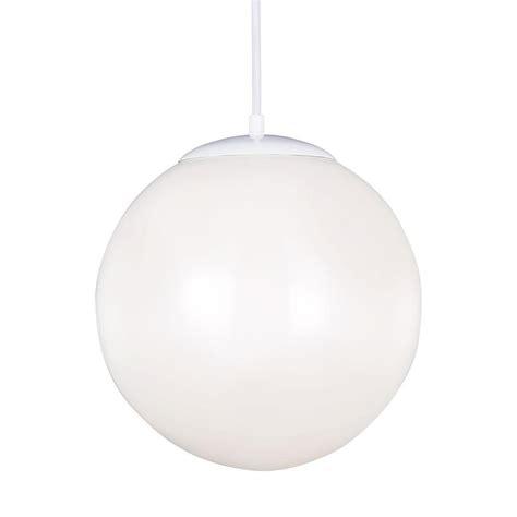 Sea Gull Lighting Hanging Globe 1 Light White Pendant White Globe Pendant Light