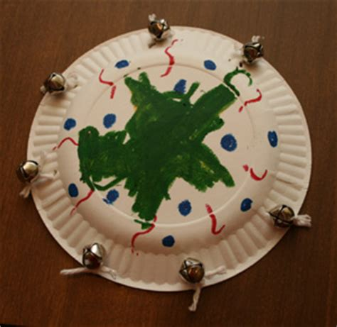 All Paper Crafts - tambourine paper plate craft preschool education
