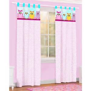 Owl Curtains For Bedroom Owl Microfiber Curtain Walmart