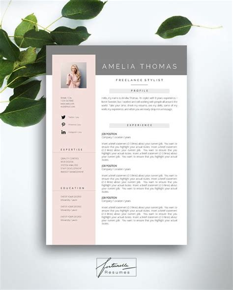 3 Page Resume Template by Resume Template 3 Page Cv Template Cover Letter