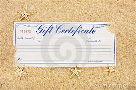 vacation certificate template vacation gift certificate stock photography image 10988382