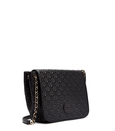 Burch Quilted Small Shoulder Bag Original lyst burch marion quilted small flap shoulder bag