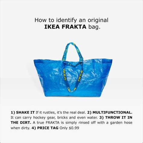 ikea frakta shop ikea responds to balenciaga s copycat tote bag