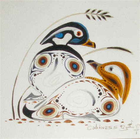 Barnes Design Ltd Wood Duck Couple By Eddy Cobiness Woodlands Art Original
