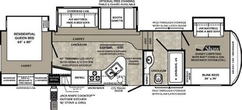 bunkhouse fifth wheel floor plans 5th wheel front bunkhouse floor plans google search rv