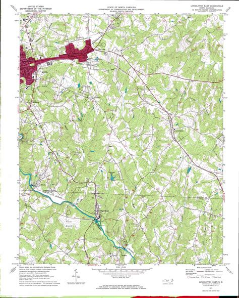 lincolnton east topographic map nc usgs topo 35081d2