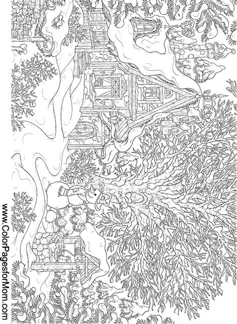 free printable coloring pages for adults landscapes landscape coloring page 15