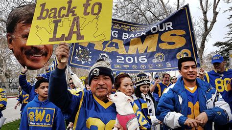 st louis rams move back to la nfl oks rams move back to los angeles abc11