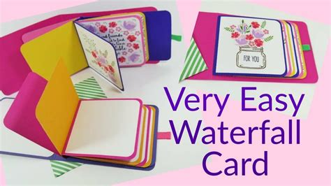 waterfall card template draw so easy waterfall card tutorial