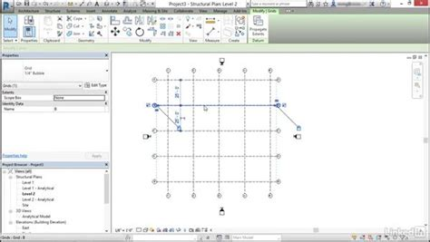 revit tutorial grid create and modify structural grids