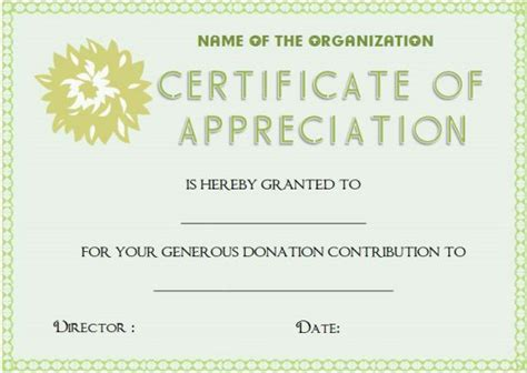 certificate of appreciation for donation template 22 legitimate donation certificate templates for your next
