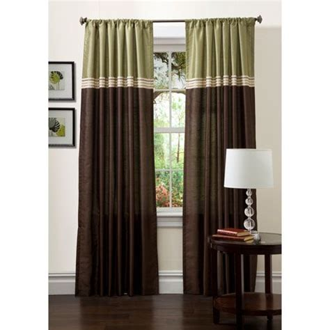 chocolate and green curtains 17 best images about green brown living room on