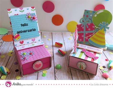 imagenes de cumpleaños sorpresa tutorial cajita sorpresa reciclada anita y su mundo